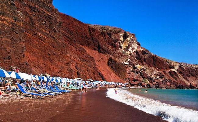 Αποτέλεσμα εικόνας για Σαντορίνη κοκκινη παραλία